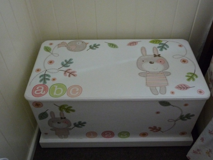 toy box i painted for the grand kids toys