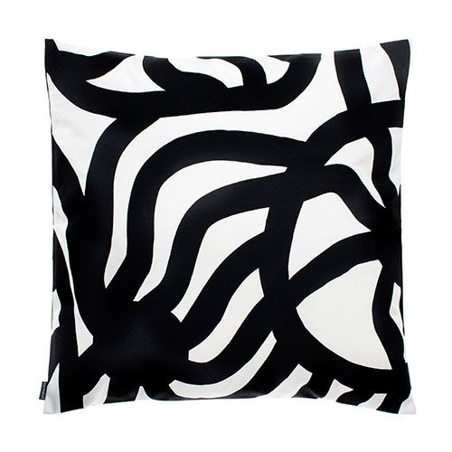 Fall in love with patio or porch this season by incorporating playful pops of print like Maija Isola's 1961 Joonas. Marimekko Joonas White/Black Outdoor Throw Pillow - $69