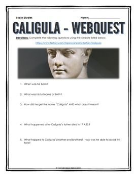 an introduction to the history and life of caligula Caligula: a brief biography - in the book, caligula: a biography, the authors' main purpose is to show a historical account of the life and reign of caligula as an emperor of the roman empire.