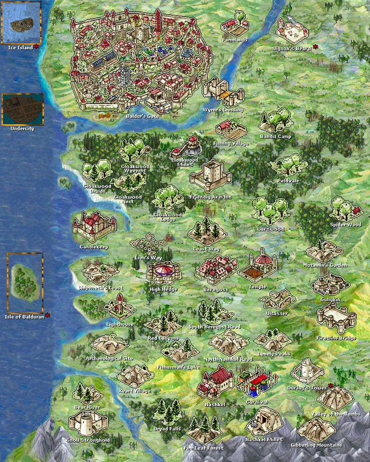 Baldur's Gate :  baldurs gate area