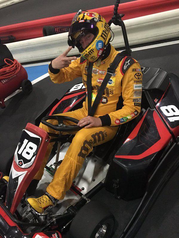 kyle busch doing some go karting out west - Kyle Busch Halloween Car