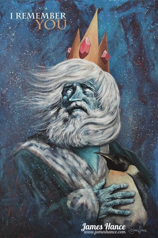 """I Remember You"""" (The Ice King /Adventure Time) Original Painting ..."""
