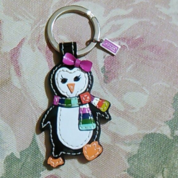 Coach Legacy Girl Penguin keychain FOB. Coach Legacy Girl Penguin keychain FOB. I only displayed this one. No trades. I have a ton to list, bundle & save!!! Coach Bags
