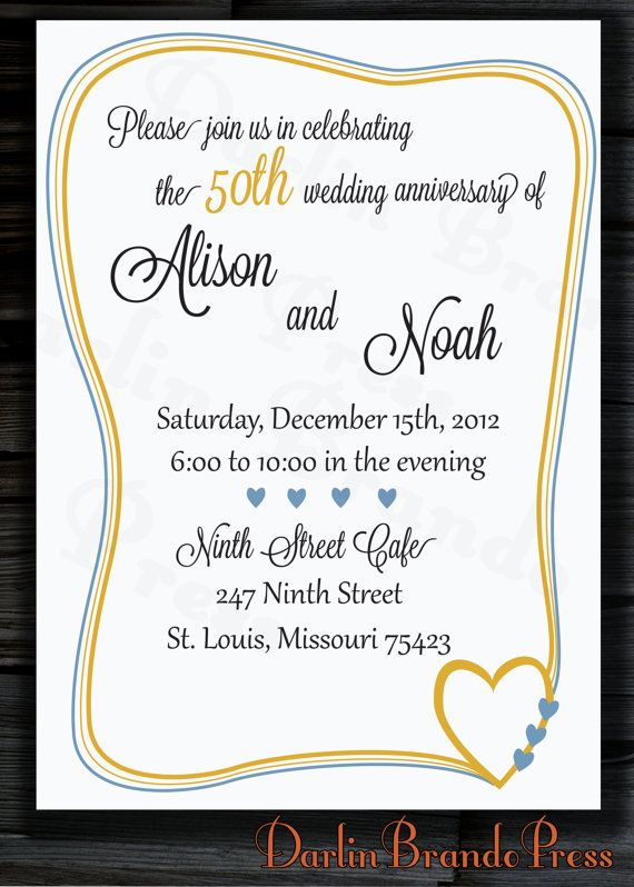 13 best 50th anniversary invite images on pinterest, Party invitations