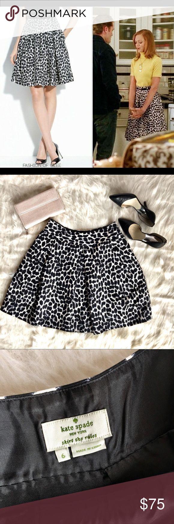 Kate Spade 6 Coreen leopard animal print skirt