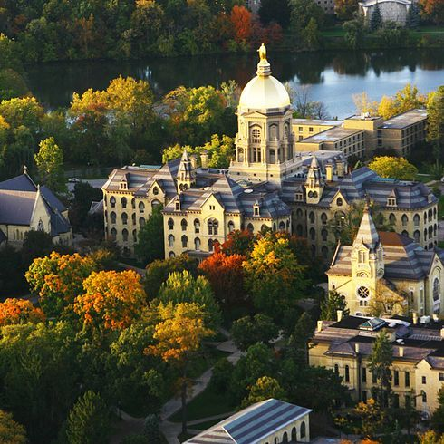 University of Notre Dame | 41 Scenic College Campuses That Were Made For Instagram. ND #colleges