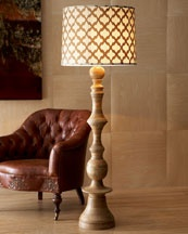 """This Jamie Young """"Natural"""" Floor Lamp would be just wonderful next to that great leather chair in the family room, study or library."""
