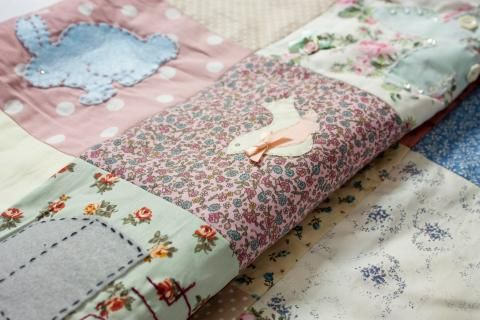 Try our our crafty #PatchworkQuilt, workshops at #TheCraftyHen. Craft party workshops perfect for baby showers and hen parties.