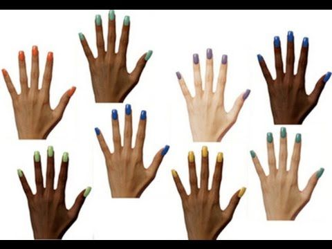 What color of nail polish looks good on dark skin