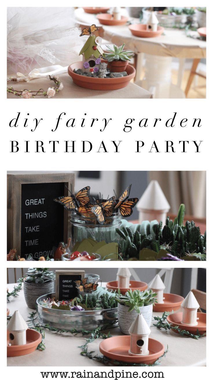Fairy Garden Birthday Party {DIY budget friendly parties for kids} – Rain & Pi…