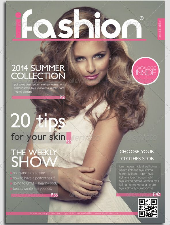 Fashion magazine cover template designs for you to make for Make your own magazine cover template