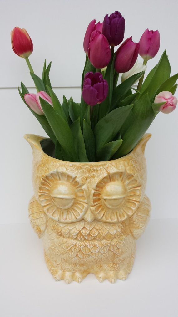 Owl Planter Large or Canister Mother's day Gift Home Decor op Etsy, 63,17€