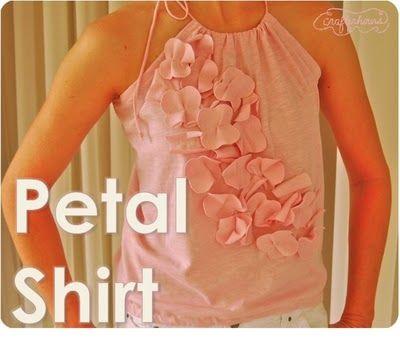 T-shirt, petal shirt