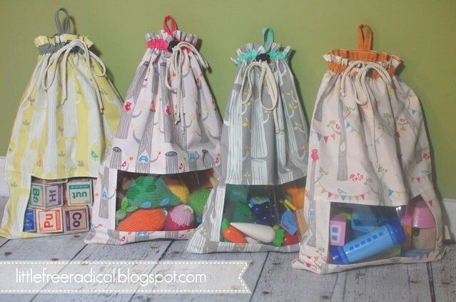 Totally diy able swoop play bags with mesh window for visibility absolutely brilliant