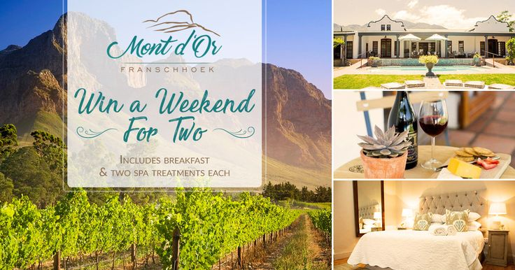 We are very excited to announce that we are giving away a stay for two at our luxury guesthouse in the heart of Franschhoek.  View details here: http://bit.ly/2hrsAfL