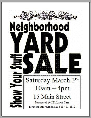 Community Garage Sale Flyer Template