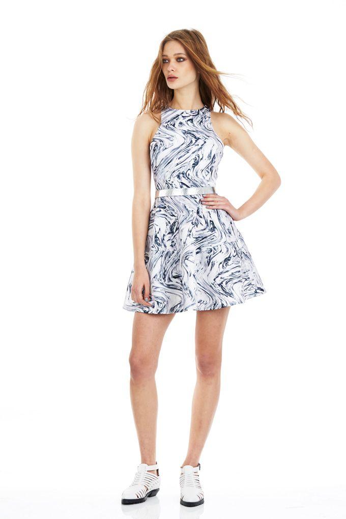 Circular Dress - Liquefy Print