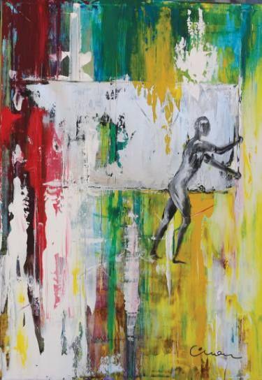 "Saatchi Art Artist Florin Coman; Painting, ""Gerhard Richter Tribute 1"" #art"