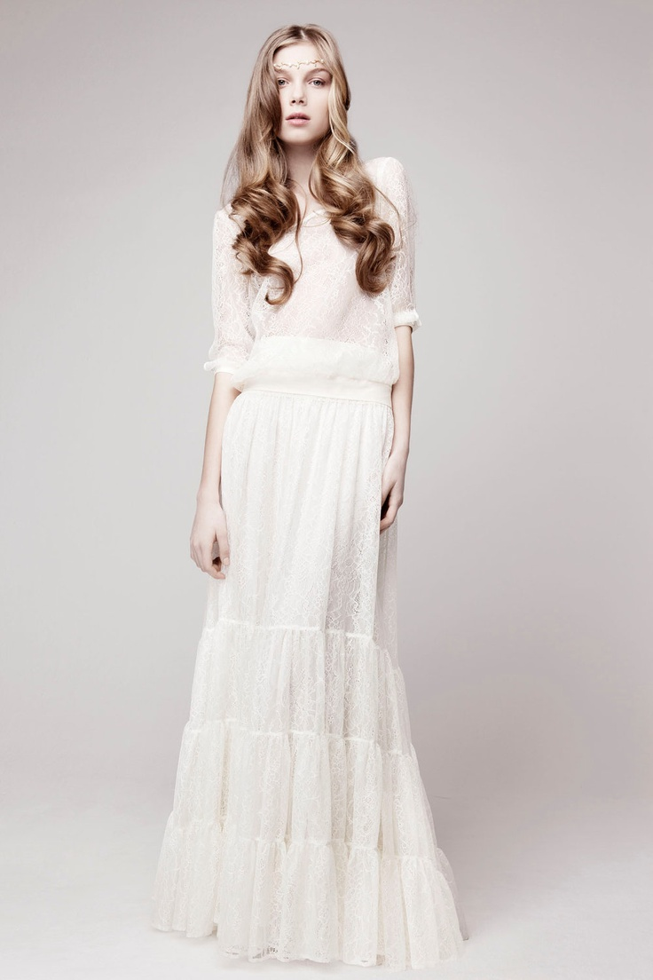 Beautiful wedding gown.