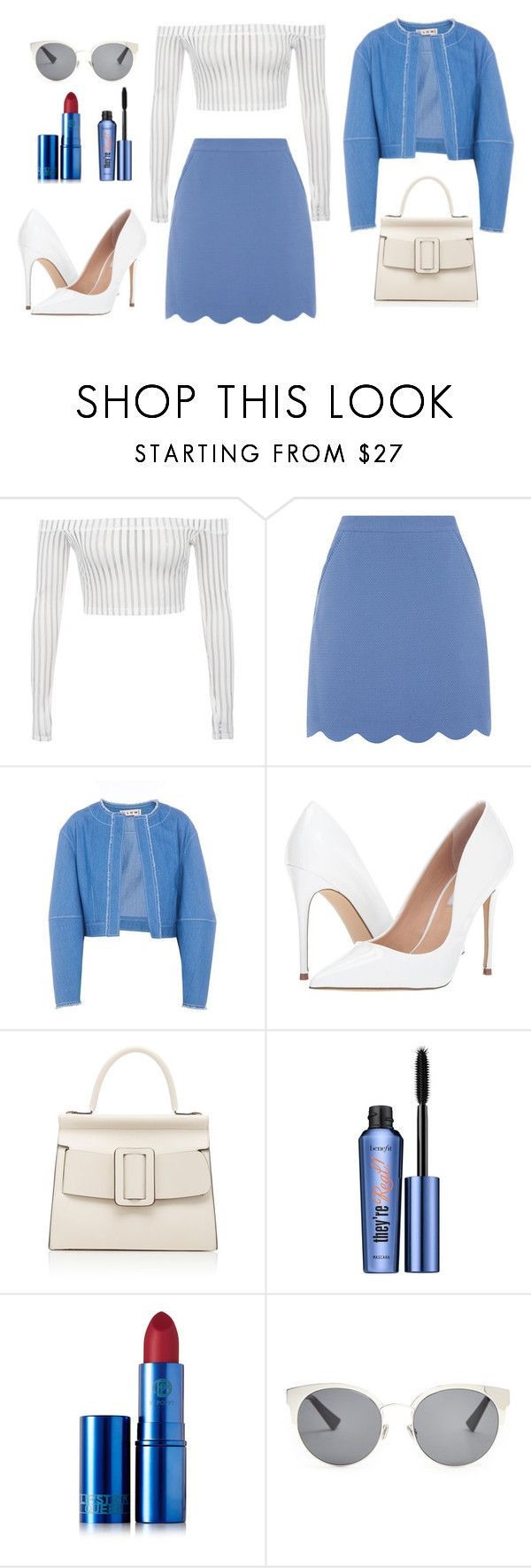 """""""Untitled #153"""" by ejr1323 ❤ liked on Polyvore featuring FLOW the Label, Steve Madden, Boyy, Benefit, Lipstick Queen and Christian Dior"""