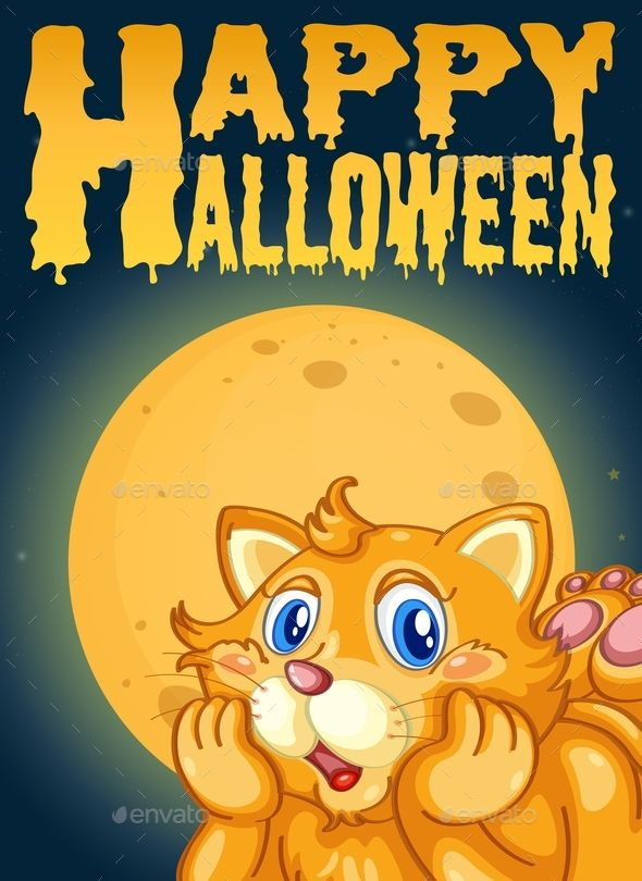 cat on halloween card template halloween cat template card