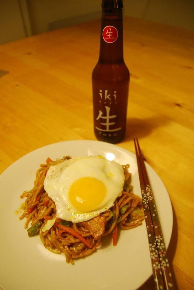 Japansk stegte nudler   焼きそば   yakisoba