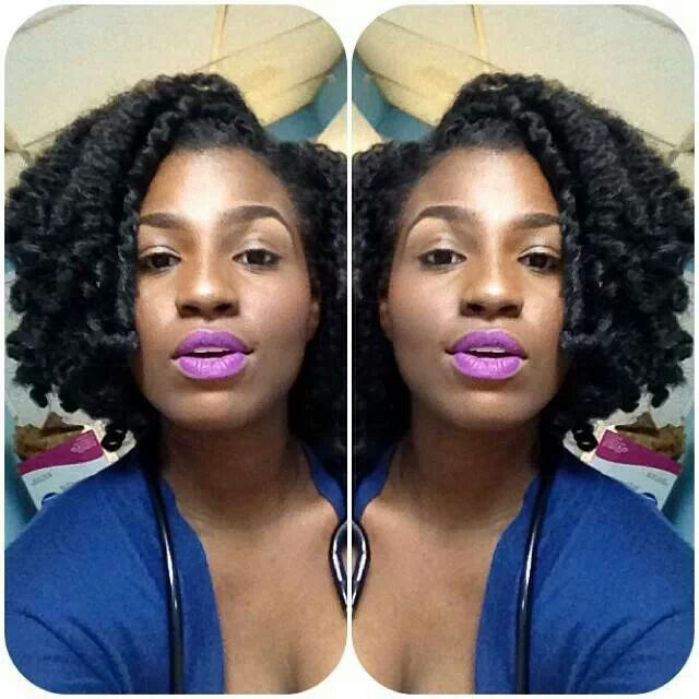 natural hairstyles with perm rods : ... Braids/Locs Pinterest Marley Hair, Crochet Braids and Braids