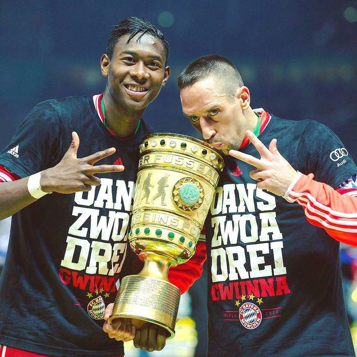 June 1st 2013! 😍 #FCBayern + DFB Pokal = Treble complete! #MiaSanMia 🔴⚪ #Alabooom #Alaba @da_27 @FranckRibery7 #Ribéry #Throwback #OnThisDay