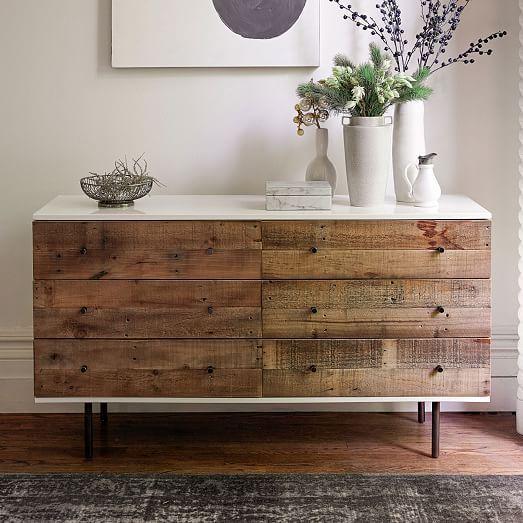 Reclaimed Wood + Lacquer 6-Drawer Dresser | west elm