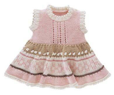 baby knit dress, lace, colorwork