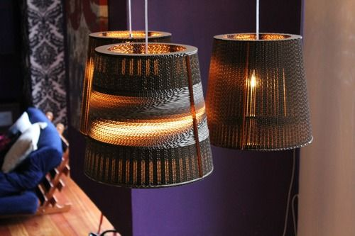 Cardboard lamps by Studio-38