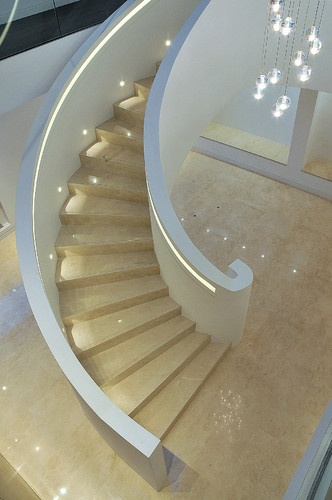 Helical staircase and glass balustrade - Elite Metalcraft Co. Ltd