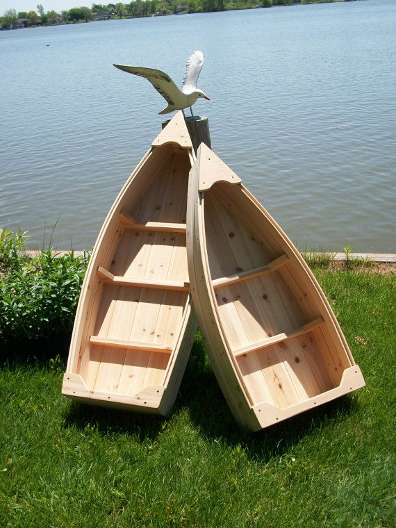 4 Foot Nautical Wooden Outdoor Landscape All Cedar Boat