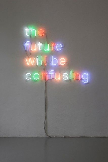 The Future will be Confusing, 2010, Tim Etchells