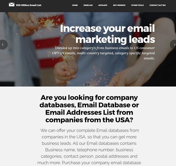 Email List Scraper Sender Reseller Website For Sale! Start a New Business for Extra Income! With No Financial Outlay! NO inventory to keep!