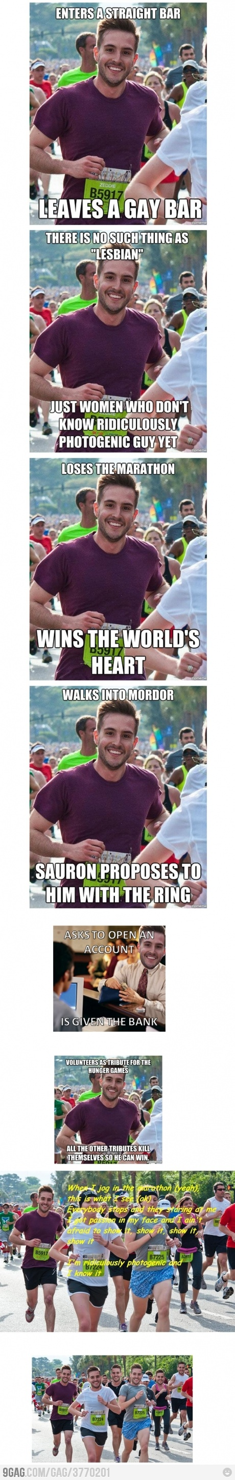 hah im not sick of these ridiculously photogenic guy memes yet