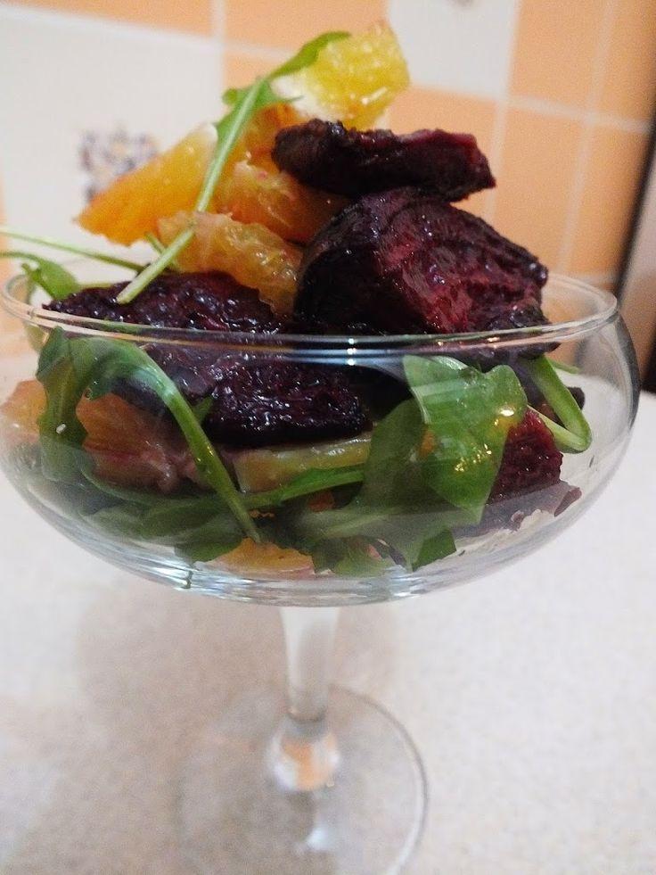 Narancsos sült cékla saláta | Tétova ínyenc