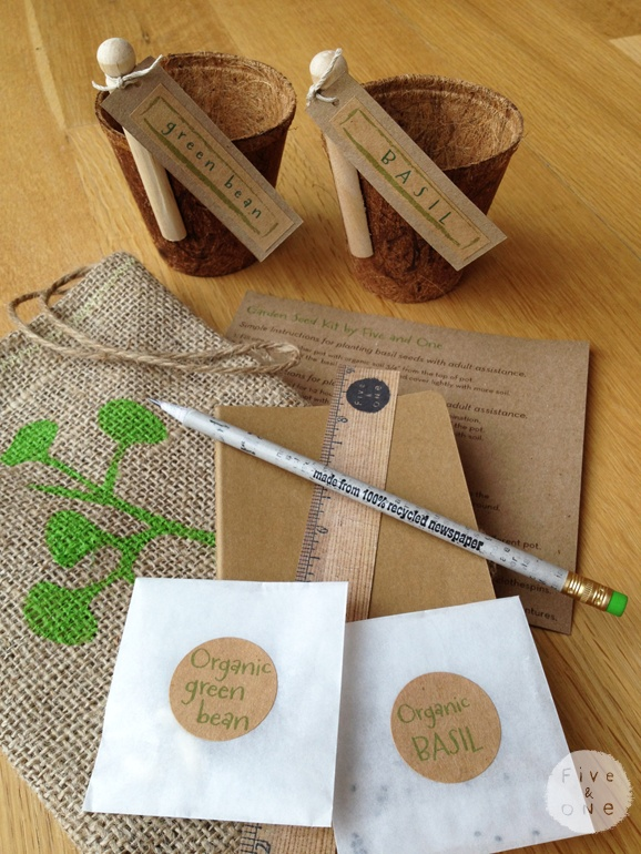 Children S Organic Garden Seed Kit Link Missing But Cute Idea For Mothers