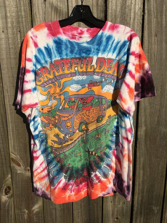 Vintage Grateful Dead Tie Dye Spring Tour Concert by RevolveYbor