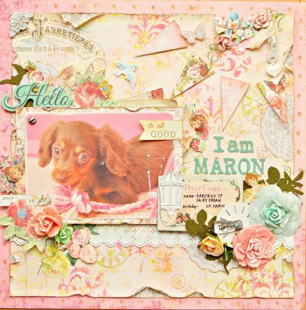 This is a layout with Ingvild' producuts.
