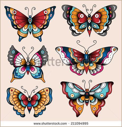 old school butterfly tattoo - Pesquisa Google