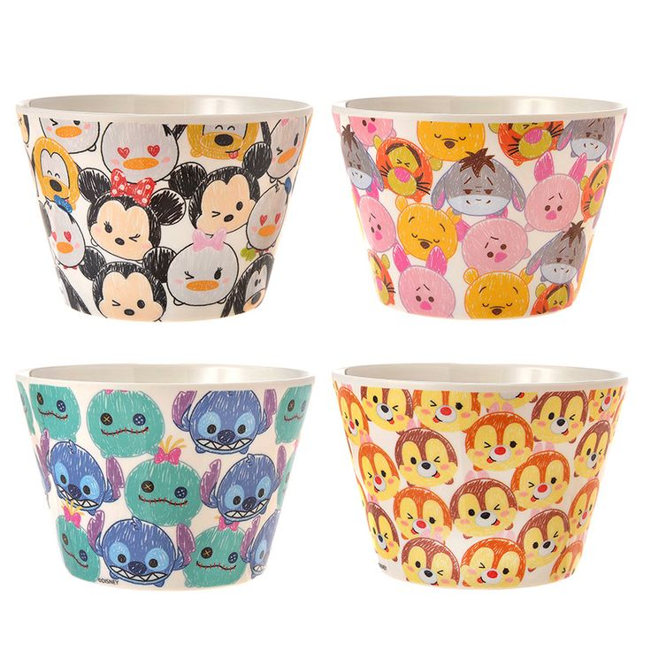 [Disney Store] melamine bowl set TSUM TSUM Mickey & Friends   Disneystore and if gift gift of mail order and sales