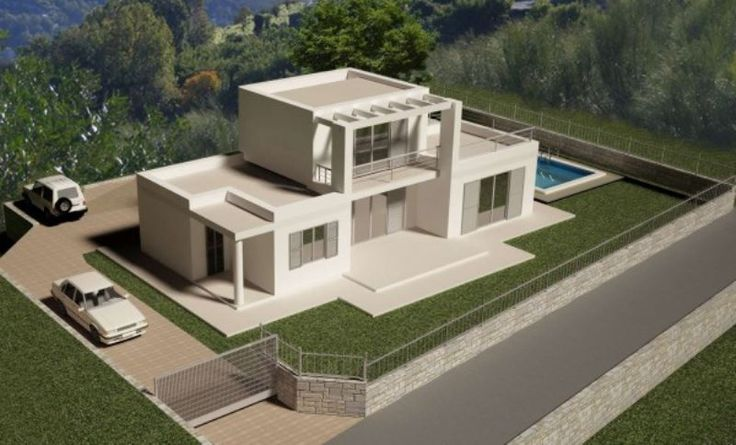 Villa in vendita a Vallebona con giardino, piscina e vista mare.