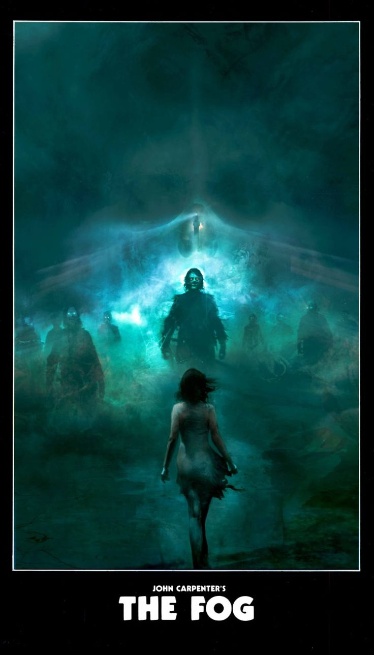 Christopher Shy's gorgeous movie posters - The Fog  http://bloody-disgusting.com/movie/3389478/artists-watercolor-horror-movie-posters-will-melt-mind/