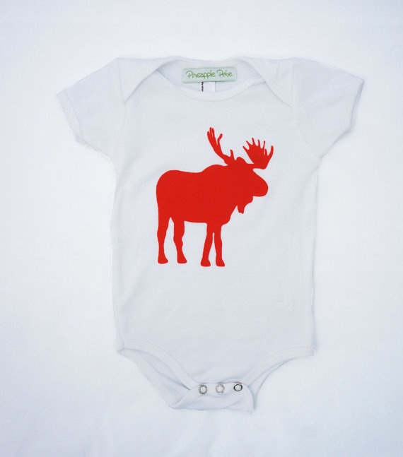 Baby gifts, Baby Onesie: Moose print- Size 3-6 months, Canada, baby shower #PCCanadaDay