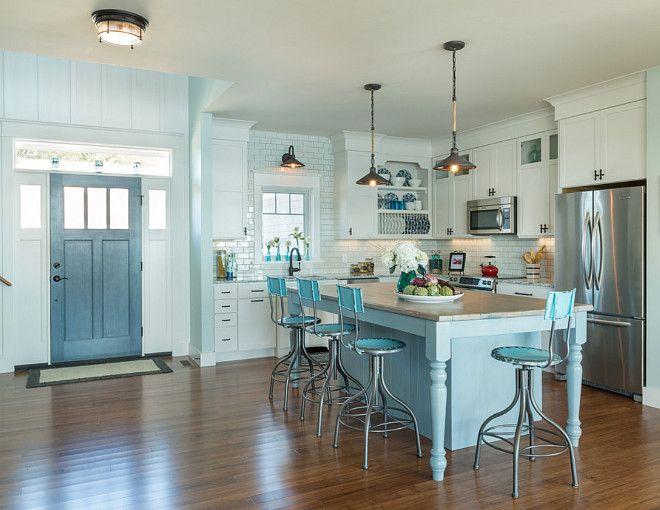 17 best ideas about blue gray kitchens on pinterest blue for Coastal cottage kitchen ideas