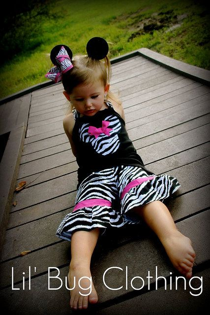 Custom Boutique Clothing Minnie Mouse Zebra and by LilBugsClothing, $39.99