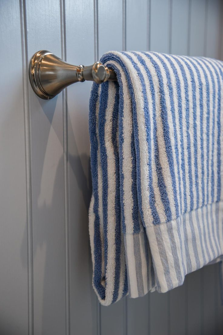 Classic And Timeless, A Champagne Bronze Towel Bar Coordinates With  Surrounding Hardware And Capably Holds · Nautical BathroomsGuest ...