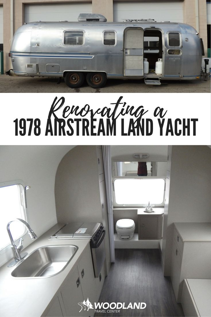 Silver bell project transforming a 1978 airstream land yacht travel trailer into a modern