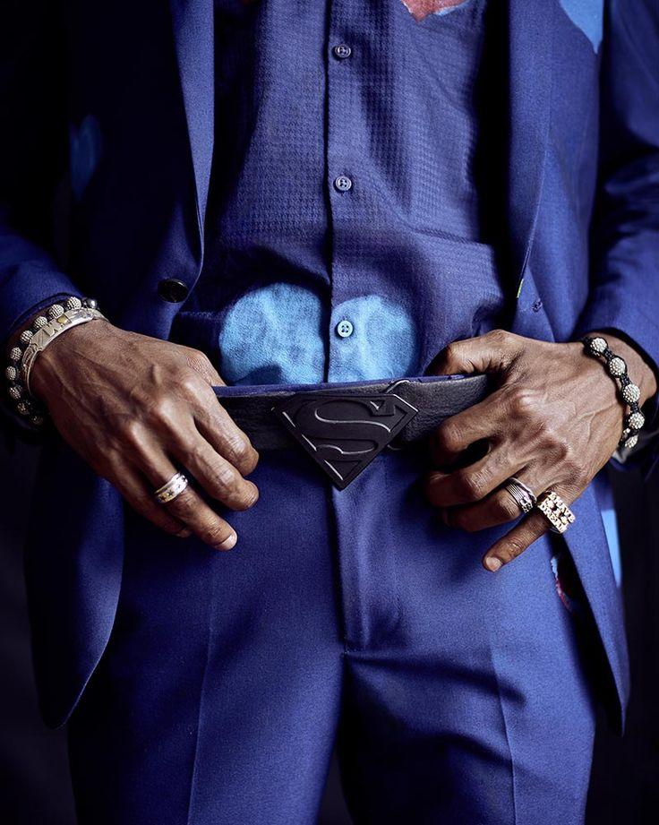 Personal work // Sanogo's family by Luc Valigny - #art #creative #photography #portrait #colored #belt #suit #superman